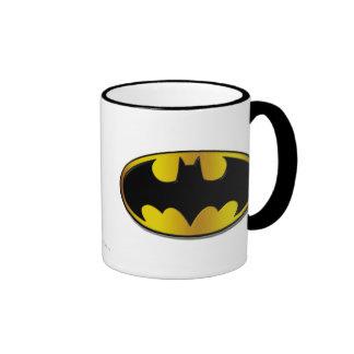 Batman Symbol | Oval Gradient Logo Ringer Mug
