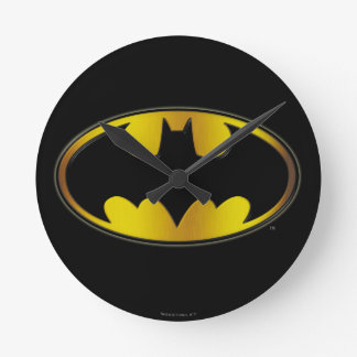 Batman Symbol | Oval Gradient Logo Round Clock