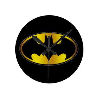 Batman Symbol | Oval Gradient Logo Wall Clock