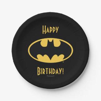 Batman Symbol | Oval Logo 7 Inch Paper Plate