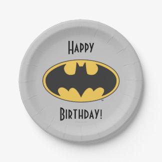Batman Symbol   Oval Logo 7 Inch Paper Plate