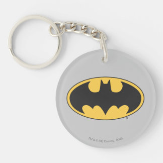 Batman Symbol | Oval Logo Double-Sided Round Acrylic Key Ring