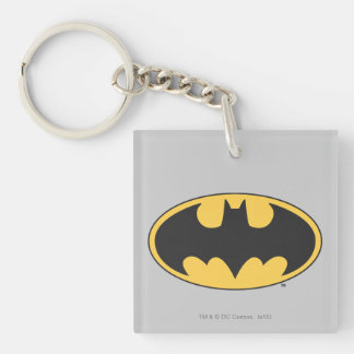 Batman Symbol | Oval Logo Double-Sided Square Acrylic Key Ring