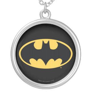 Batman Symbol | Oval Logo Silver Plated Necklace