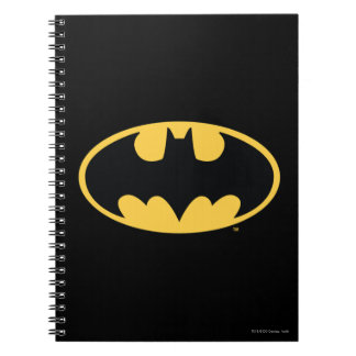Batman Symbol | Oval Logo Spiral Notebook