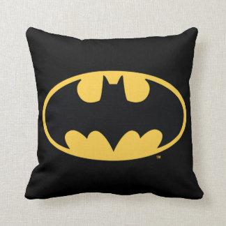 Batman Symbol | Oval Logo Throw Pillow
