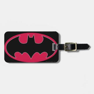 Batman Symbol | Red Black Logo Luggage Tag