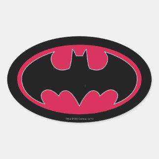Batman Symbol | Red Black Logo Oval Sticker