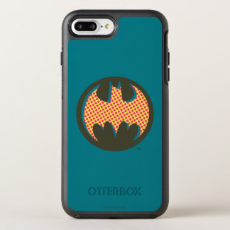 Batman Symbol | Red Halftone Logo OtterBox Symmetry iPhone 8 Plus/7 Plus Case