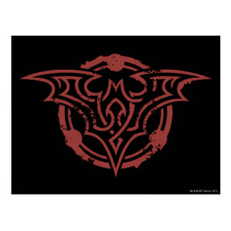 Batman Symbol | Red Outline Urban Logo Postcard