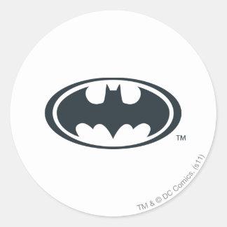 Batman Symbol Round Sticker