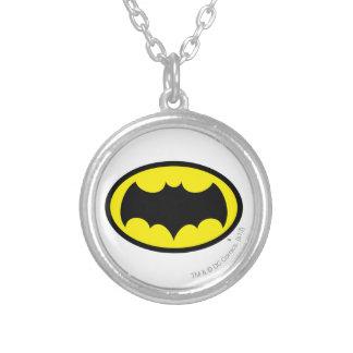 Batman Symbol Silver Plated Necklace