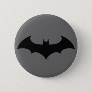 Batman Symbol | Simple Bat Silhouette Logo 6 Cm Round Badge