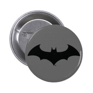 Batman Symbol   Simple Bat Silhouette Logo 6 Cm Round Badge