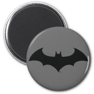 Batman Symbol | Simple Bat Silhouette Logo 6 Cm Round Magnet