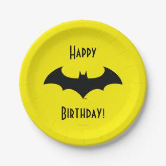 Batman Symbol | Simple Bat Silhouette Logo 7 Inch Paper Plate