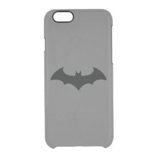 Batman Symbol | Simple Bat Silhouette Logo Clear iPhone 6/6S Case