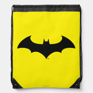 Batman Symbol | Simple Bat Silhouette Logo Drawstring Bag