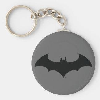 Batman Symbol | Simple Bat Silhouette Logo Key Ring