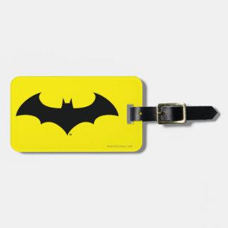 Batman Symbol | Simple Bat Silhouette Logo Luggage Tag