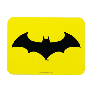 Batman Symbol   Simple Bat Silhouette Logo Magnet