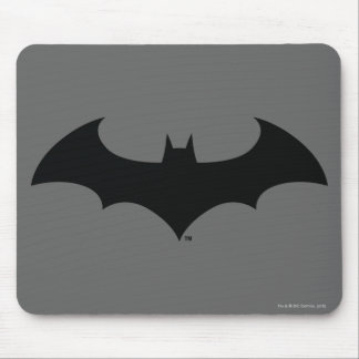 Batman Symbol | Simple Bat Silhouette Logo Mouse Mat