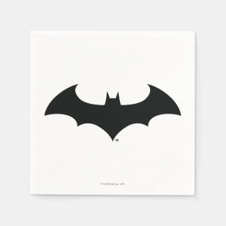 Batman Symbol | Simple Bat Silhouette Logo Paper Serviettes