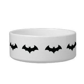 Batman Symbol | Simple Bat Silhouette Logo Pet Food Bowls