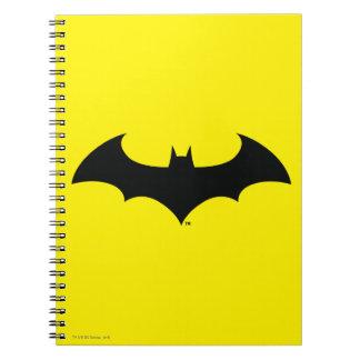 Batman Symbol   Simple Bat Silhouette Logo Spiral Note Books