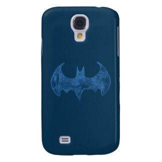 Batman Symbol | Sketchbook Light Blue Logo Galaxy S4 Case