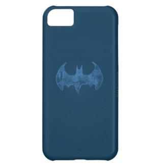 Batman Symbol | Sketchbook Light Blue Logo iPhone 5C Case