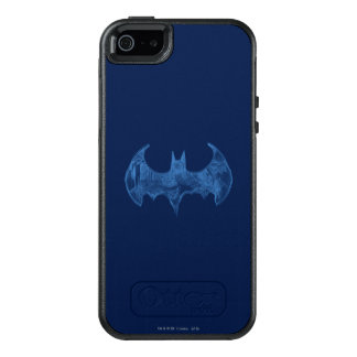 Batman Symbol | Sketchbook Light Blue Logo OtterBox iPhone 5/5s/SE Case