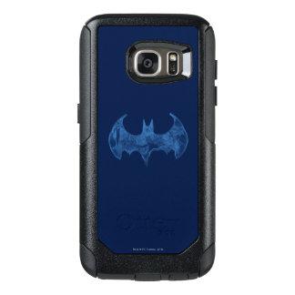 Batman Symbol | Sketchbook Light Blue Logo OtterBox Samsung Galaxy S7 Case