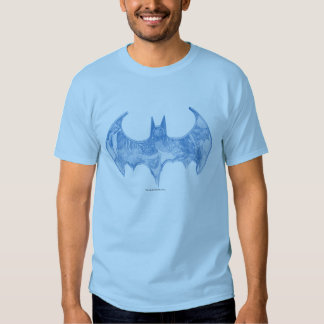 Batman Symbol | Sketchbook Light Blue Logo Tee Shirts