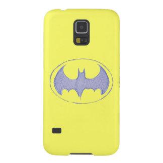 Batman Symbol | Sketchbook Purple Logo Case For Galaxy S5