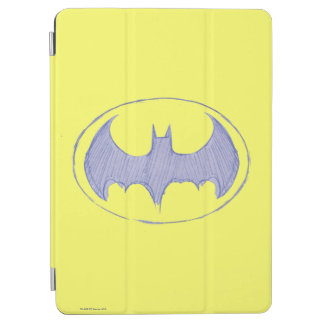 Batman Symbol | Sketchbook Purple Logo iPad Air Cover