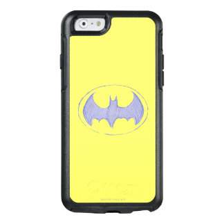 Batman Symbol | Sketchbook Purple Logo OtterBox iPhone 6/6s Case