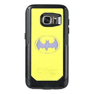 Batman Symbol | Sketchbook Purple Logo OtterBox Samsung Galaxy S7 Case