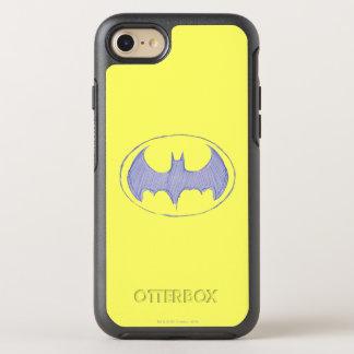 Batman Symbol | Sketchbook Purple Logo OtterBox Symmetry iPhone 8/7 Case