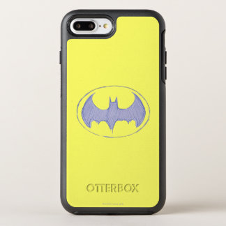 Batman Symbol | Sketchbook Purple Logo OtterBox Symmetry iPhone 8 Plus/7 Plus Case
