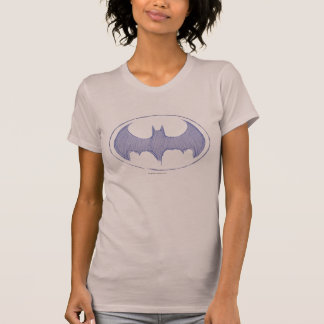 Batman Symbol | Sketchbook Purple Logo T-Shirt