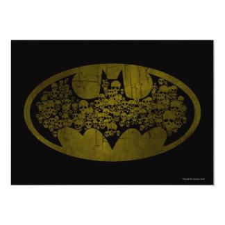 Batman Symbol | Skulls in Bat Logo 13 Cm X 18 Cm Invitation Card