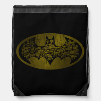 Batman Symbol | Skulls in Bat Logo Drawstring Bag