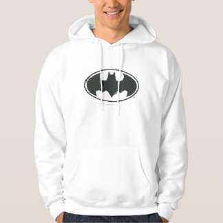 Batman Symbol | Spray Black White Logo Hoodie