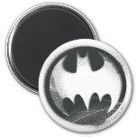 Batman Symbol | Spray Symbol Logo 6 Cm Round Magnet