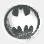 Batman Symbol | Spray Symbol Logo Round Sticker
