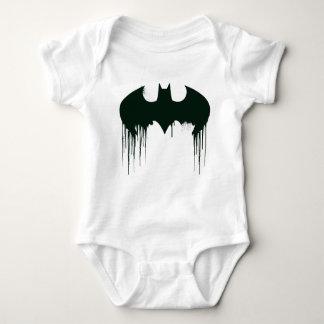Batman Symbol | Spraypaint Logo Baby Bodysuit