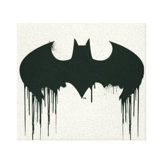 Batman Symbol | Spraypaint Logo Canvas Print