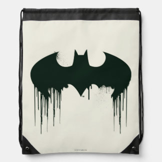 Batman Symbol | Spraypaint Logo Drawstring Bag