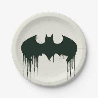 Batman Symbol | Spraypaint Logo Paper Plate